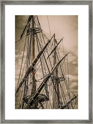 Hms Bounty Mast Framed Print