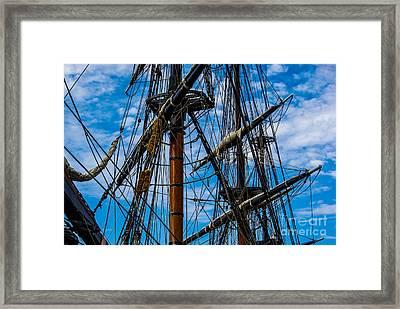 Hms Bounty Masts Framed Print