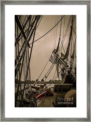 Hms Bounty Port Bow Framed Print