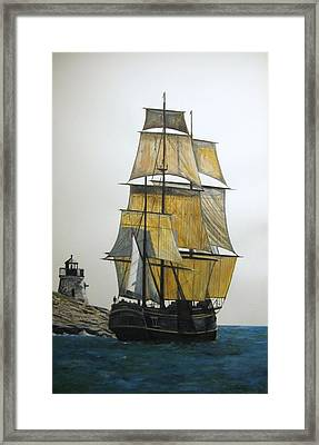 Framed Print featuring the painting Hms Bounty by Stan Tenney