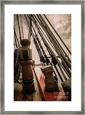 Hms Bounty Starboard To Bow I Framed Print