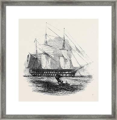 H.m.s. Collingwood Framed Print
