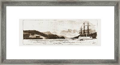 H.m.s. Comus At Burrard Inlet, The Present Terminus Framed Print by Litz Collection