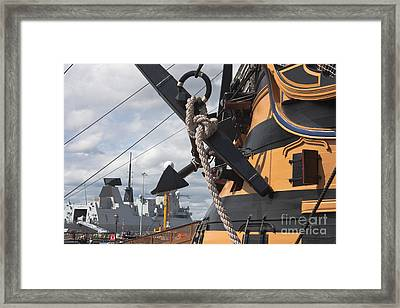 Hms Diamond And Hms Victory Framed Print