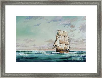 Hms Endeavour Framed Print by James Williamson