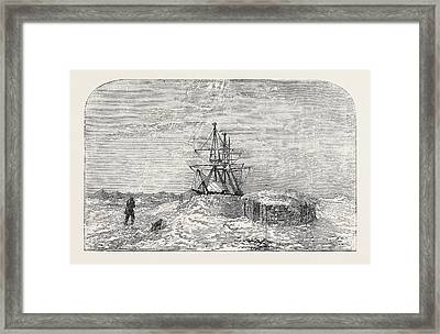 H.m.s. Enterprise In Winter Quarters Framed Print by English School