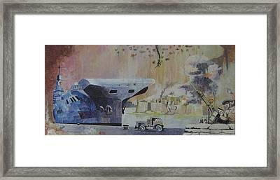 Hms Illustrious Malta Framed Print