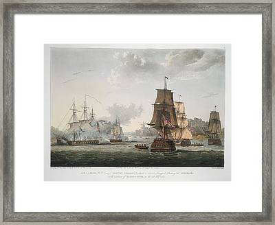 H.m.s Larne And Others Framed Print