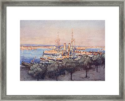 H.m.s. Queen, Trawlers And Drifters Framed Print