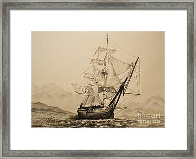 Hms Surprise Framed Print by John Huntsman