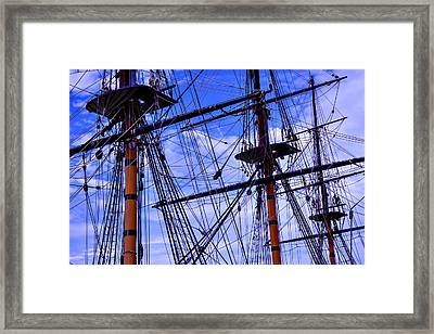 Hms Surprise Rigging Framed Print