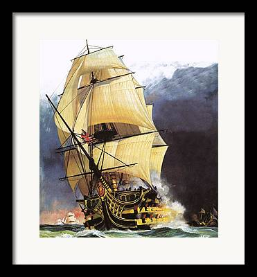 Pirate Ship Drawings Framed Prints