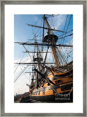 Hms Victory In Portsmouth Dockyard Framed Print