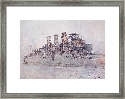 Hms Vindictive Framed Print by Donald Maxwell