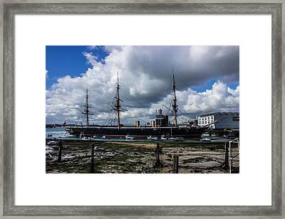 Hms Warrior Portsmouth Historic Docks Framed Print by Martin Newman