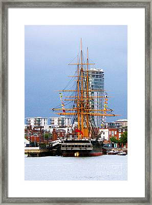 Hms Warrior Portsmouth Framed Print by Terri Waters