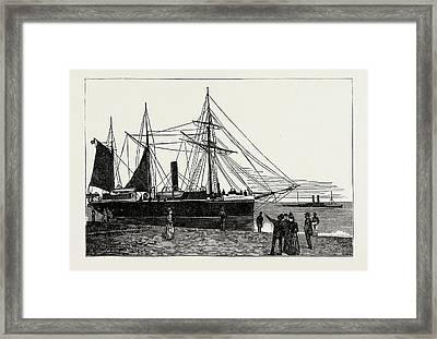 H.m.s. Watchful, Gunboat, Lowestoft Harbour Framed Print by Litz Collection