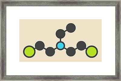 Hn1 Nitrogen Mustard Molecule Framed Print