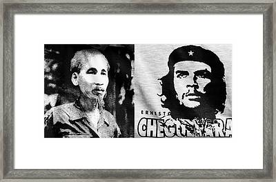 Ho Chi Minh And Che Guevara Framed Print by Rick Piper Photography