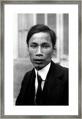 Ho Chi Minh In 1921 Framed Print by Mountain Dreams