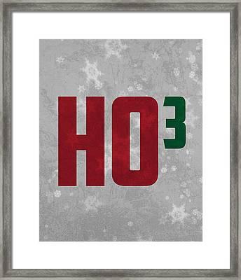 Ho Ho Ho Have A Very Nerdy Christmas Framed Print by Design Turnpike