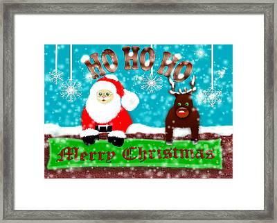 Ho Ho Ho Merry Christmas Framed Print