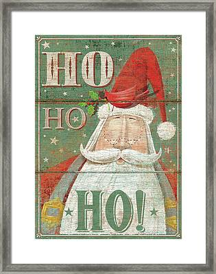 Ho Ho Ho Framed Print by P.s. Art Studios