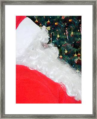 Framed Print featuring the photograph Santa Claus by Vizual Studio