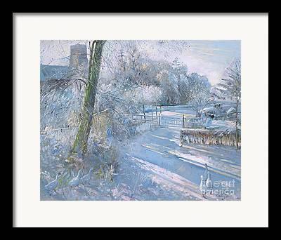 Snow Geese Paintings Framed Prints