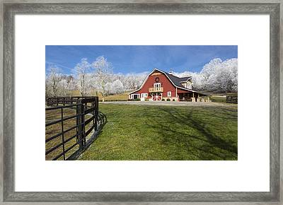Hoar Frosty Morning Framed Print