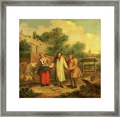 Hob Taken Out Of Ye Well, John Laguerre, 1688-1746 Framed Print