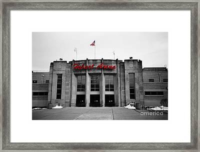 Hobart Arena In Black And White Framed Print by Rachel Barrett