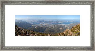 Hobart City Framed Print