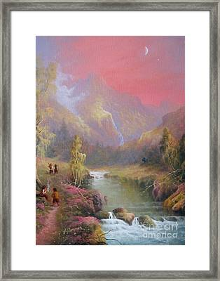 Hobbit Haste No Time For A Pipe Framed Print by Joe  Gilronan
