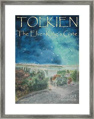 hobbit Tolkien FAA Tolkien Poster 1 Tolkien ElvenKing's Gate Framed Print by Glen McDonald
