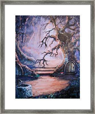Hobbit Watering Hole Framed Print