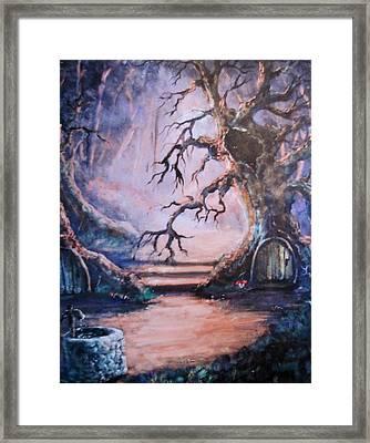 Hobbit Watering Hole Framed Print by Megan Walsh