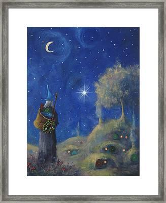 Hobbiton Christmas Eve Framed Print by Joe Gilronan