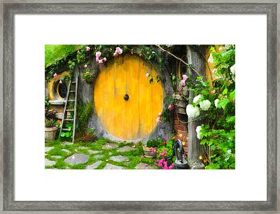 Hobbiton New Zealand Framed Print by Lanjee Chee