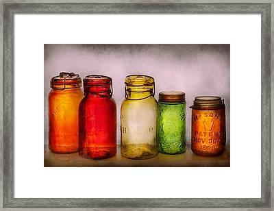 Hobby - Jars - I'm A Jar-aholic  Framed Print by Mike Savad