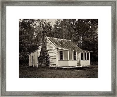 Hobcaw Cabin In Sepia Framed Print by Sandra Anderson