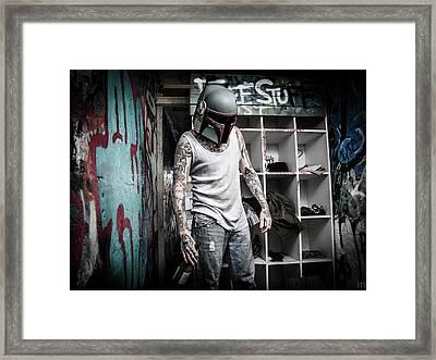 Hobo Fett Framed Print by Marino Flovent