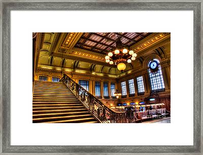 Hoboken Terminal Framed Print by Anthony Sacco
