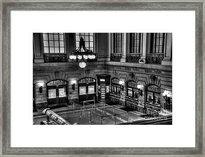 Hoboken Terminal Waiting Room Framed Print