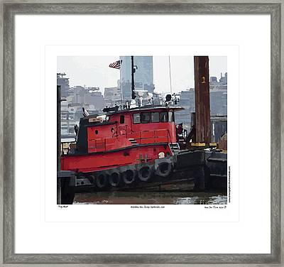 Framed Print featuring the photograph Hoboken Tug Boat  by Kenneth De Tore