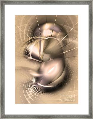 Hoc Omnis Est - Abstract Art Framed Print by Sipo Liimatainen