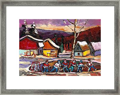 Hockey 4 Framed Print by Carole Spandau