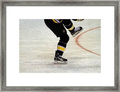 Hockey Dance Framed Print by Karol Livote