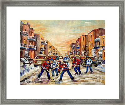 Hockey Daze Framed Print by Carole Spandau