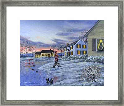 Hockey Girl Framed Print by Richard De Wolfe